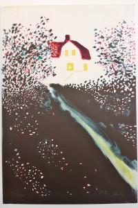 Peter Dahl litografi 2800kr