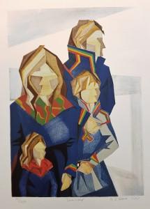 Annica Waara litografi