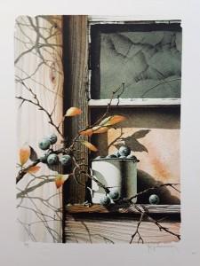 Nils E Johansson litografi