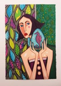 Angelica Wiik litografi